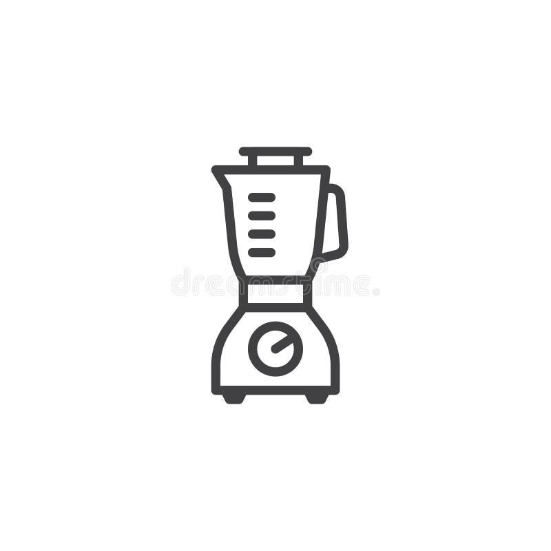 Mixer, juicer lijnpictogram vector illustratie