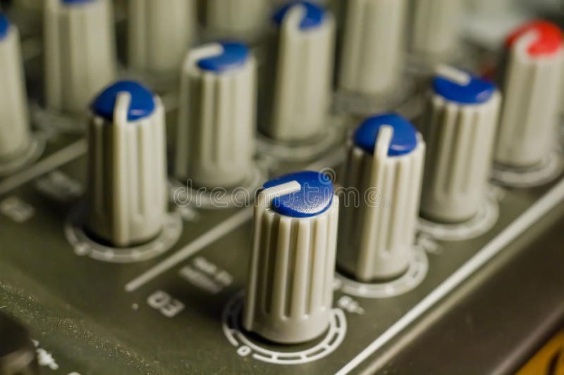 Download Mixer Knobs stock image. Image of instrument, music, control - 12732887
