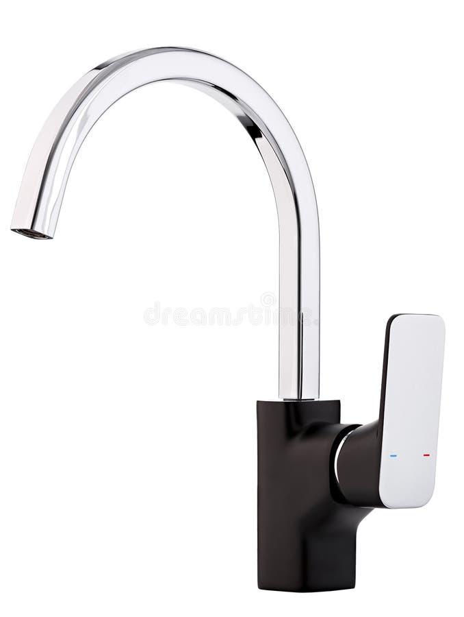 Mixer koud warm water Moderne tapkraanbadkamers Keukenkraan I stock afbeeldingen