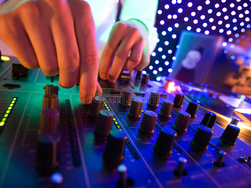 Mixer in nightclub royalty free stock photography