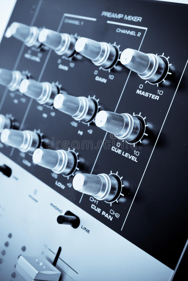 Mixer PreAmp royalty free stock images