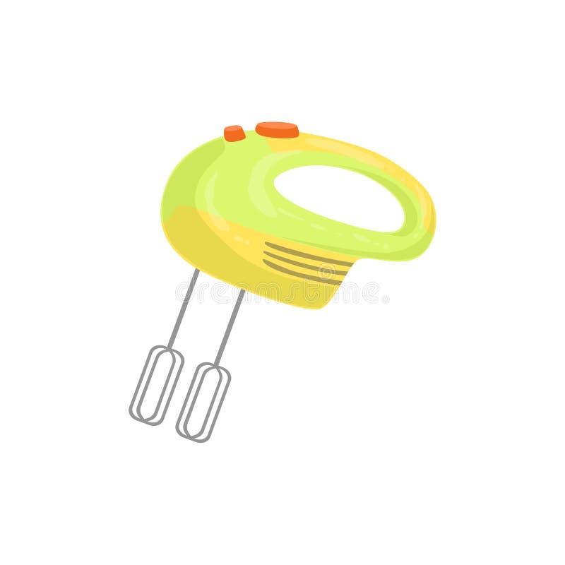 MixerBakproces en Keukenmateriaal Geïsoleerd Punt stock illustratie