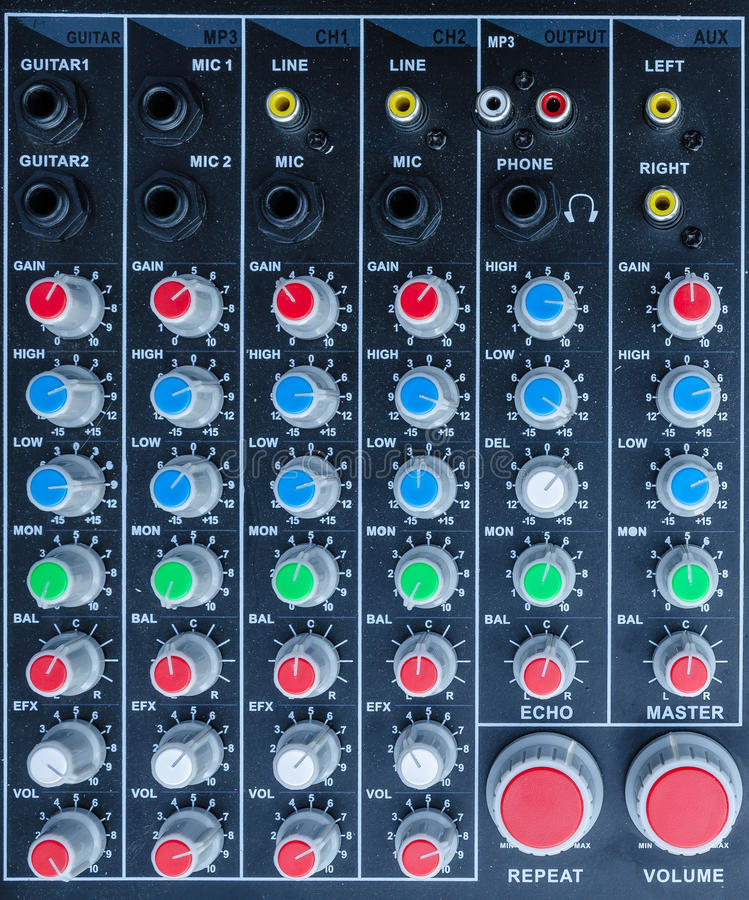 Mixercontrole stock illustratie