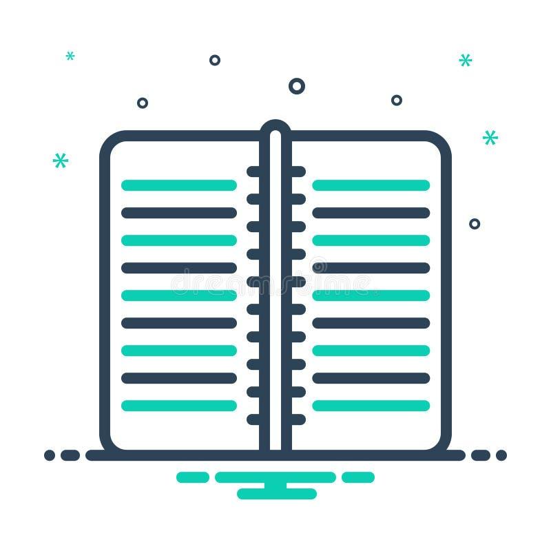 mixikon för arbetsbok, publikation och sida vektor illustrationer