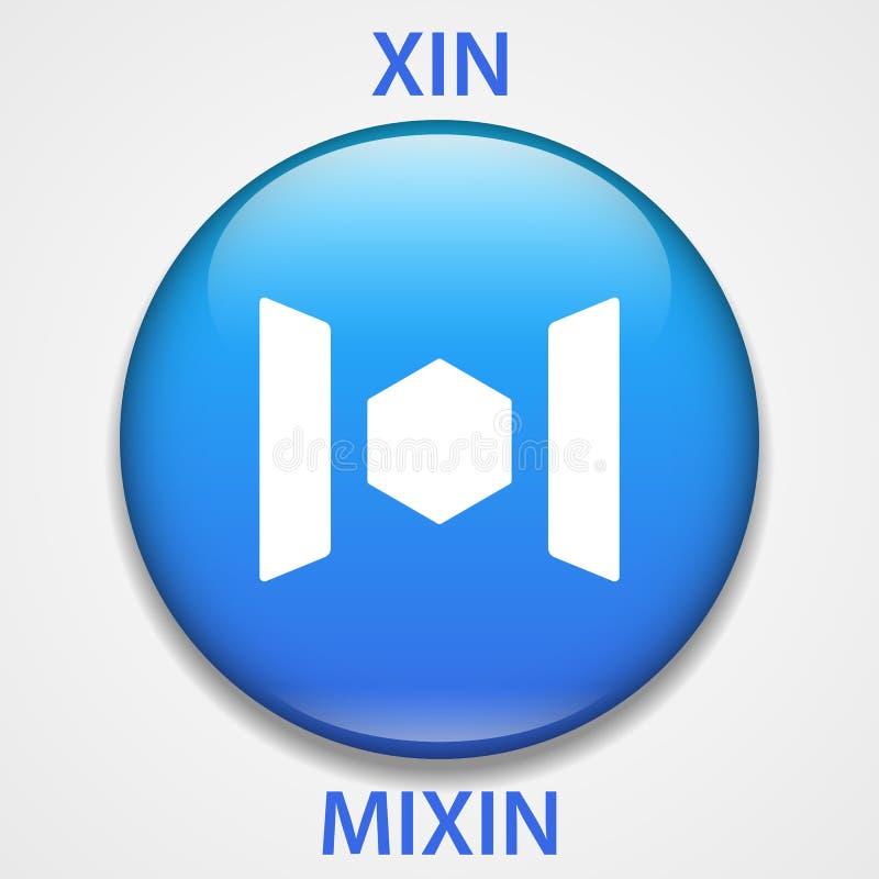Mixin Coin cryptocurrency blockchain icon. Virtual electronic, internet money or cryptocoin symbol, logo.  stock illustration