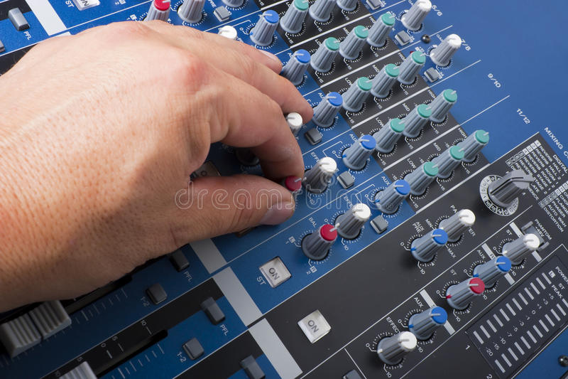 Download Mixing Board stock image. Image of electronics, effect - 20893139