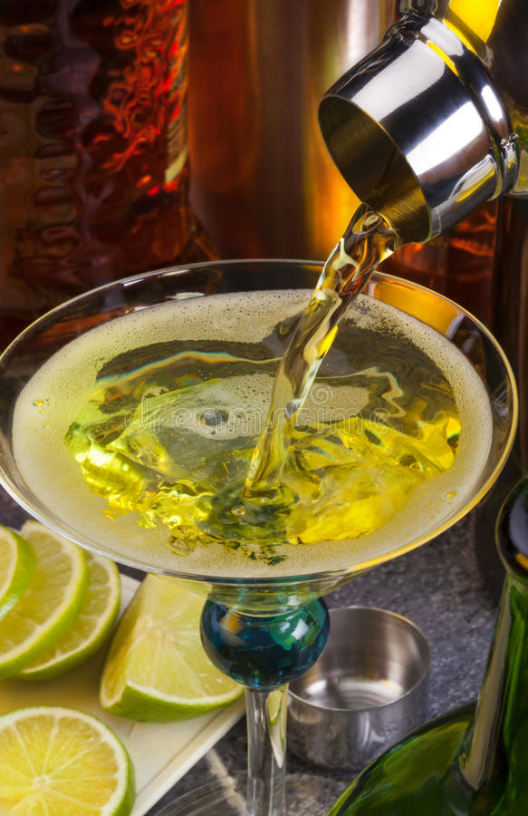 Mixing A Cocktail Stock Photography