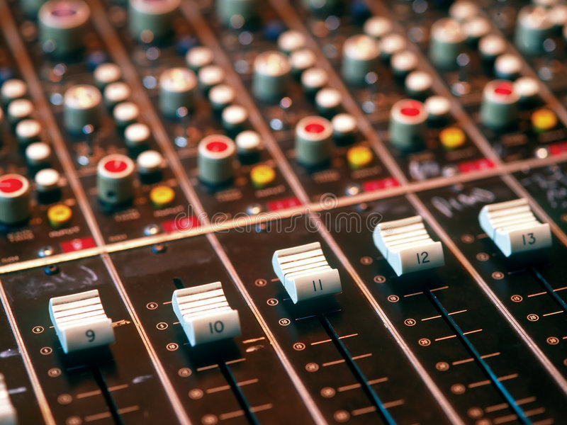 Download Mixing console stock photo. Image of studio, faders, musician - 1628222