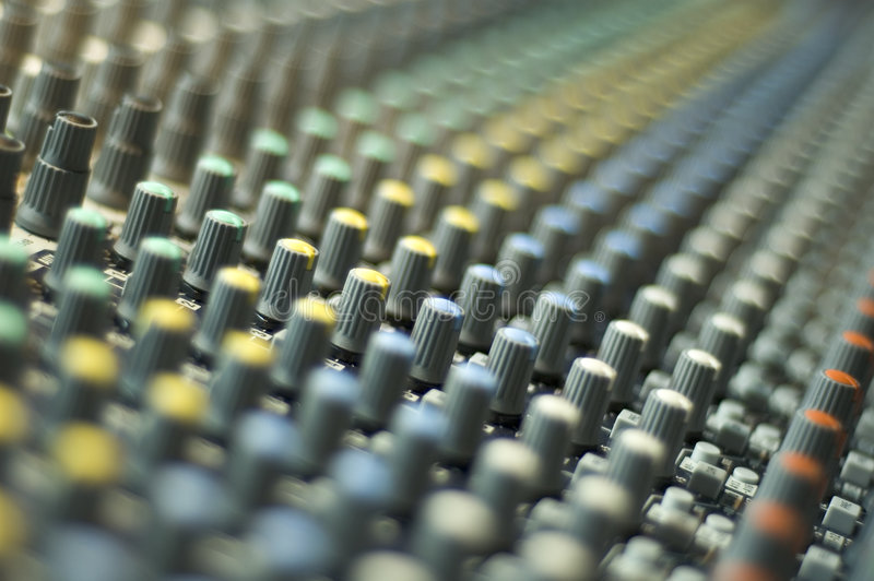 Mixing Console 3 stock images