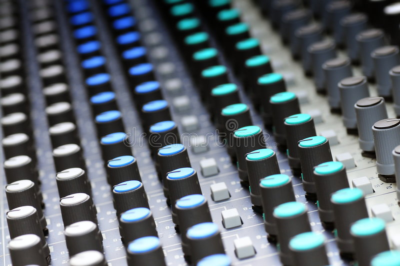 Download Mixing console stock image. Image of broadcast, board - 7565677