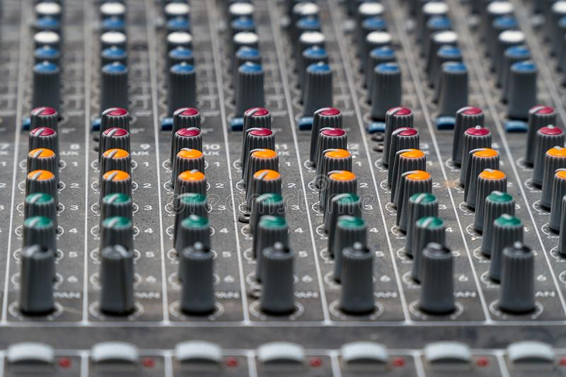 Mixing console in the Studio stock images