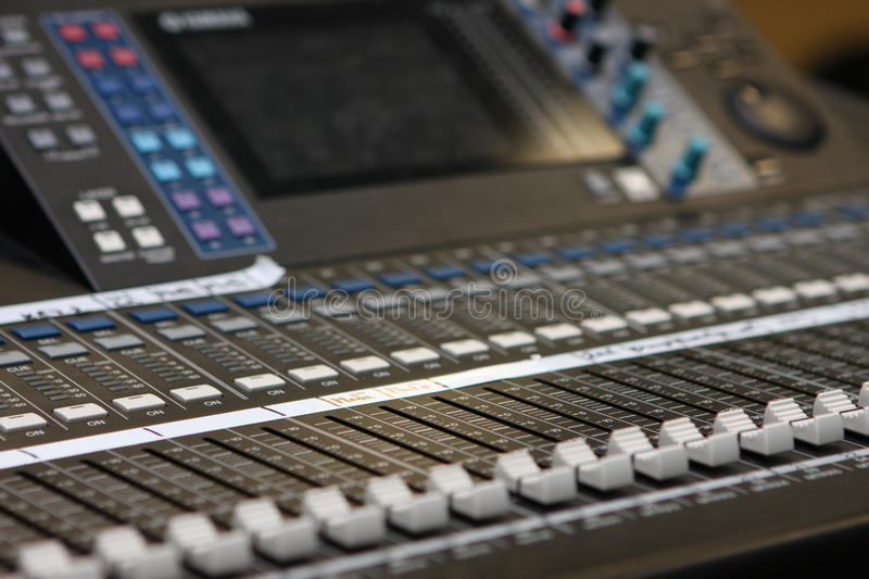 Download Mixing desk stock photo. Image of adjust, record, digital - 14060520