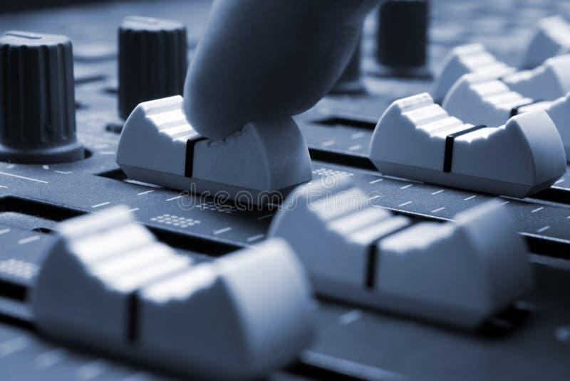 Download Mixing Desk stock photo. Image of board, macro, blue, rhythm - 2321402