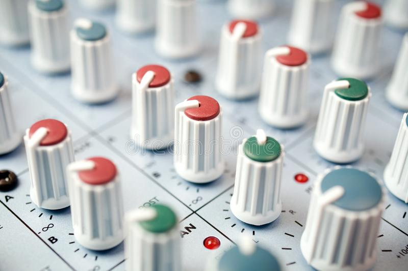 Mixing desk stock photography