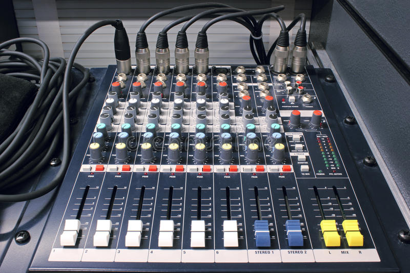 Download Mixing desk stock photo. Image of music, desk, audio - 33341996