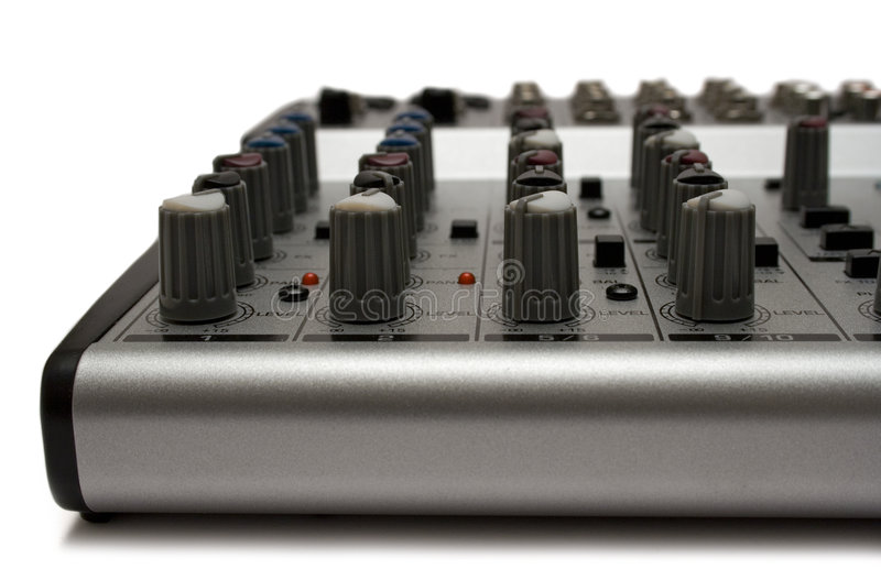 Mixing Desk (Top Front View) stock image