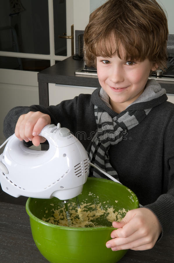 Download Mixing the dough stock image. Image of young, lifestyle - 18669315