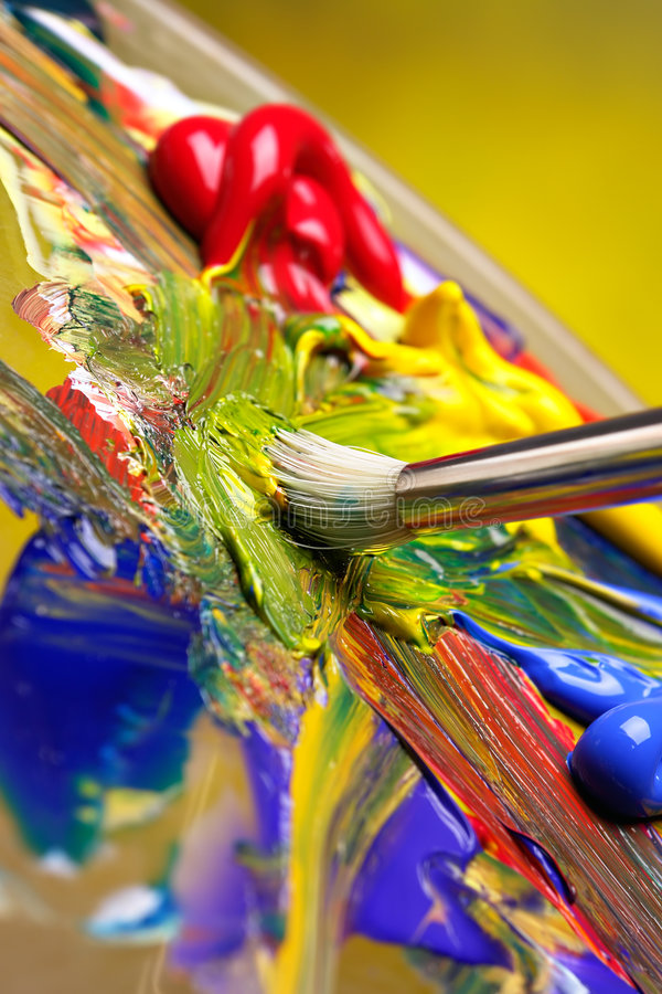 Free Mixing Paint Royalty Free Stock Photography - 1564067