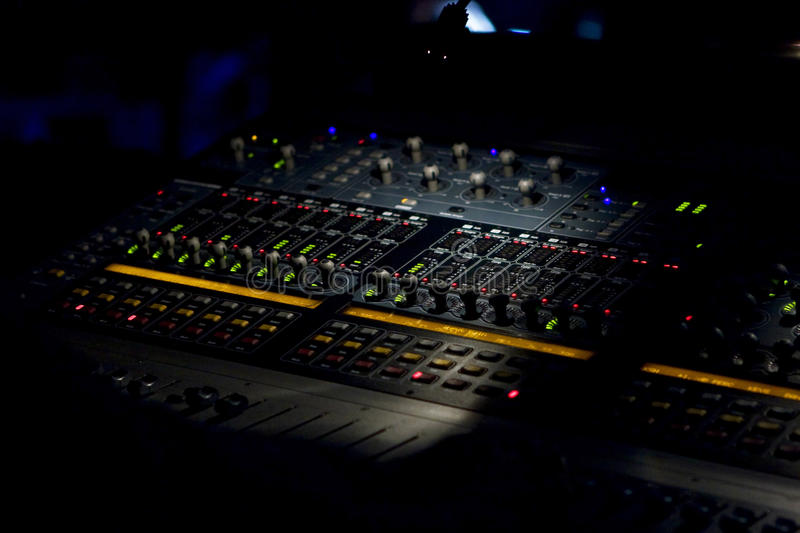 Mixing Sound Board Recording stock photos