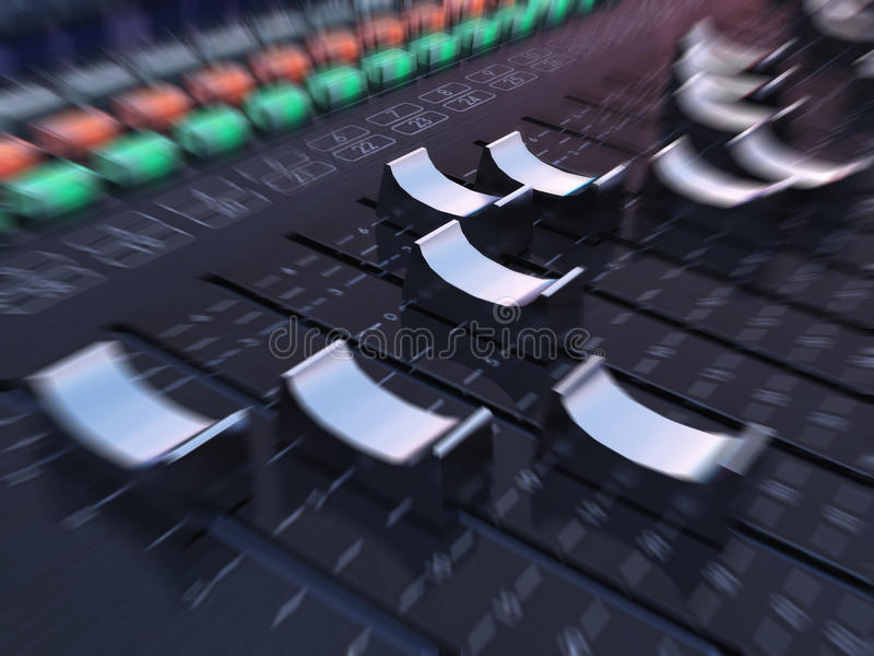 Download Mixing table stock illustration. Illustration of audio - 30068654