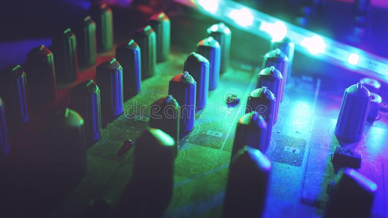 Mixing table royalty free stock photos