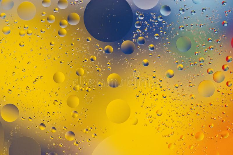 Mixing water and oil backgroud royalty free stock photo
