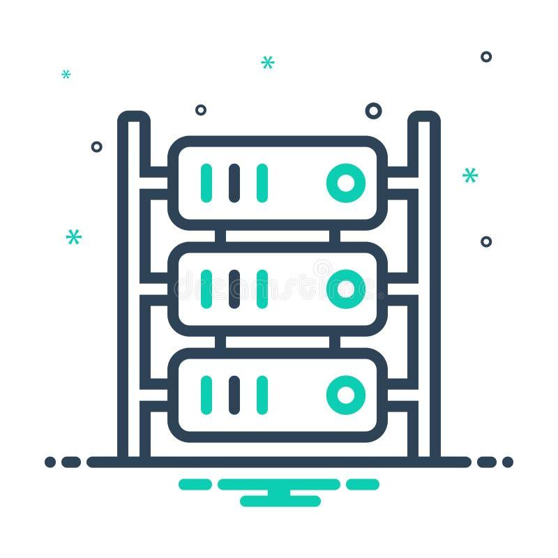 mixpictogram voor server, cloud en hardware royalty-vrije illustratie