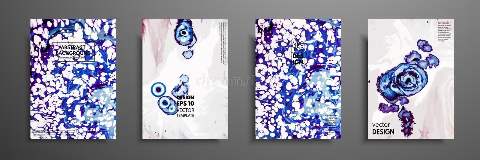 Mixture of acrylic paints. Design template with fluid art. Vector banner with colorful texture. Applicable for covers royalty free illustration