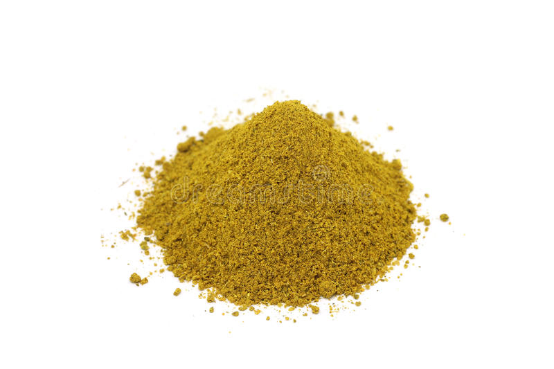 Mixture of aromatic spices. On a white background royalty free stock photos