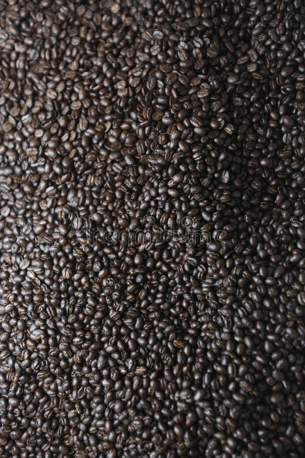 Mixture of different kinds of coffee beans. royalty free stock photos