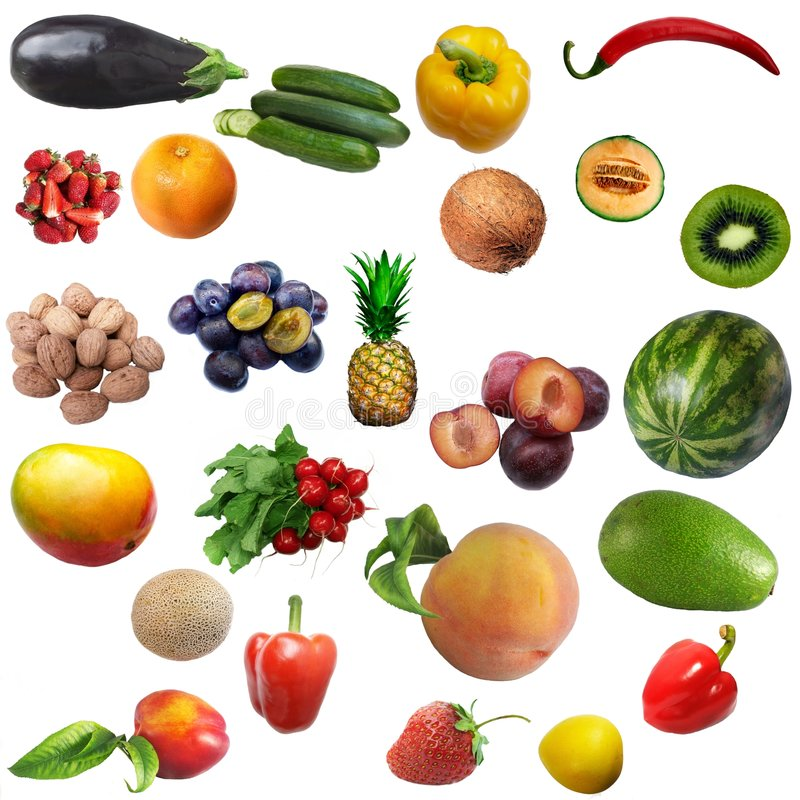 Download Mixture Of Fruit And Vegetables Stock Photo - Image: 5981972
