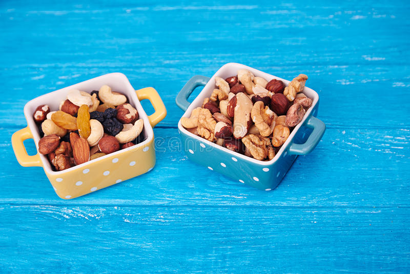 A mixture of various nuts royalty free stock photo