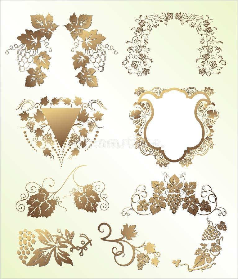 mixwine royaltyfri illustrationer
