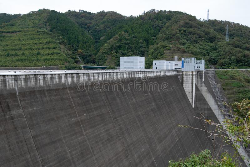 Miyagase-Verdammung lizenzfreies stockfoto