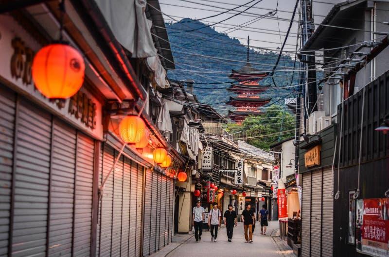 Miyajima, Hiroshima, Japão fotografia de stock royalty free