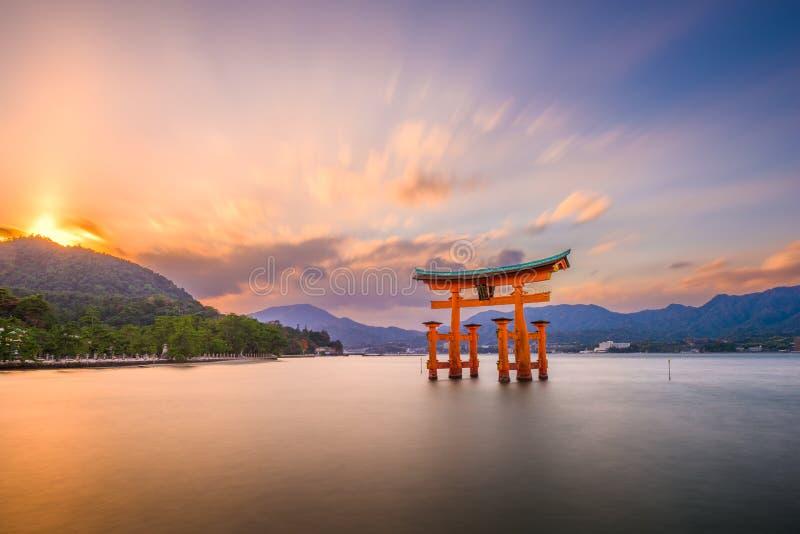 Miyajima, Hiroshima, Japan royalty-vrije stock afbeeldingen