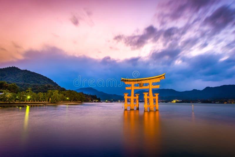 Miyajima, Hiroshima, Japan. At Itsukushima Shrine stock images
