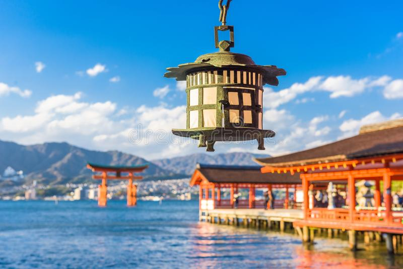 Miyajima, Hiroshima, Japan. At Itsukushima Shrine royalty free stock photo