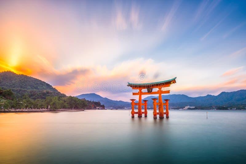 Miyajima, Hiroshima, Japan. At Itsukushima Shrine stock photos