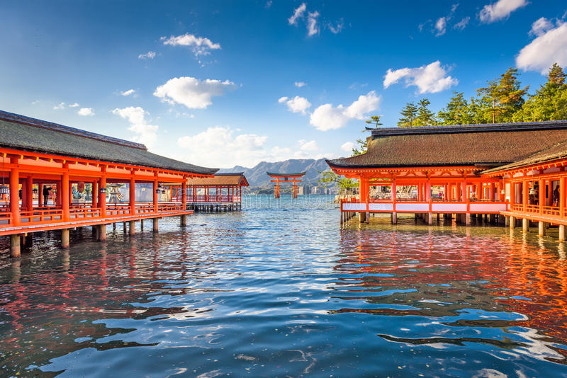 Miyajima, Hiroshima, Japon image libre de droits