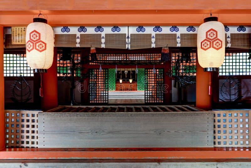 Itsukushima Torii Shrine Miyajima Island. Miyajima Island, Hiroshima Japan October 2017 stock images