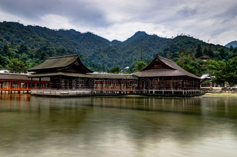 Itsukushima Torii Shrine Miyajima Island. Miyajima Island, Hiroshima Japan October 2017 stock photo