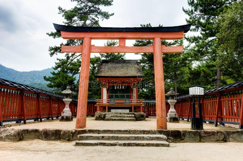 Itsukushima Torii Shrine Miyajima Island. Miyajima Island, Hiroshima Japan October 2017 stock image