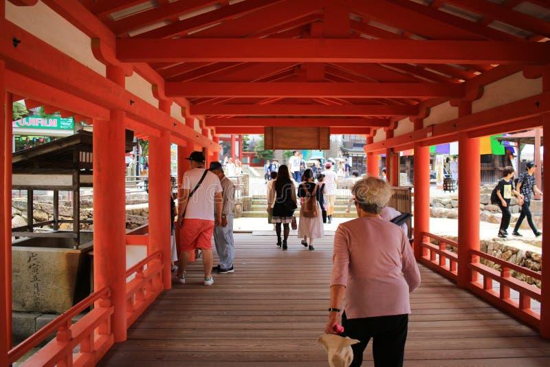 The famous orange floating shinto gate. Miyajima island of Hiroshima prefecture stock photos