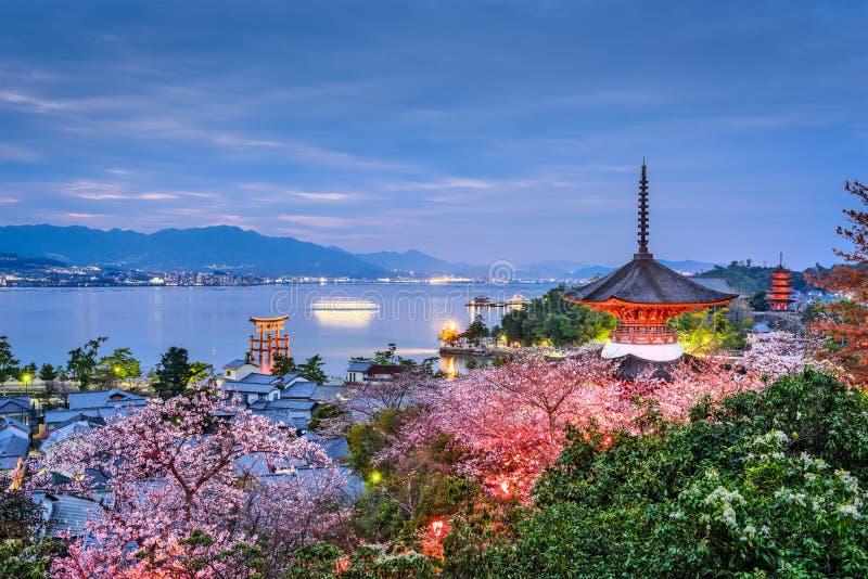 Miyajima, Japon au printemps photographie stock