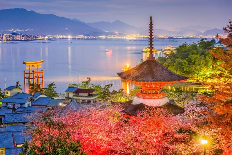 Miyajima, Japonia w wiośnie obraz royalty free