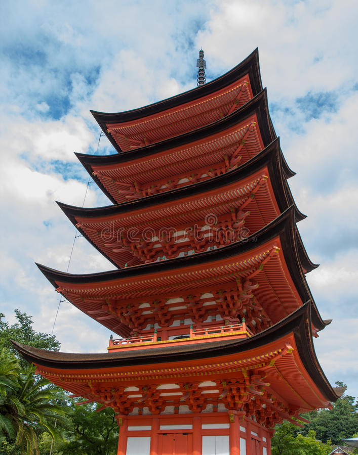 Miyajima pagoda royalty free stock photo