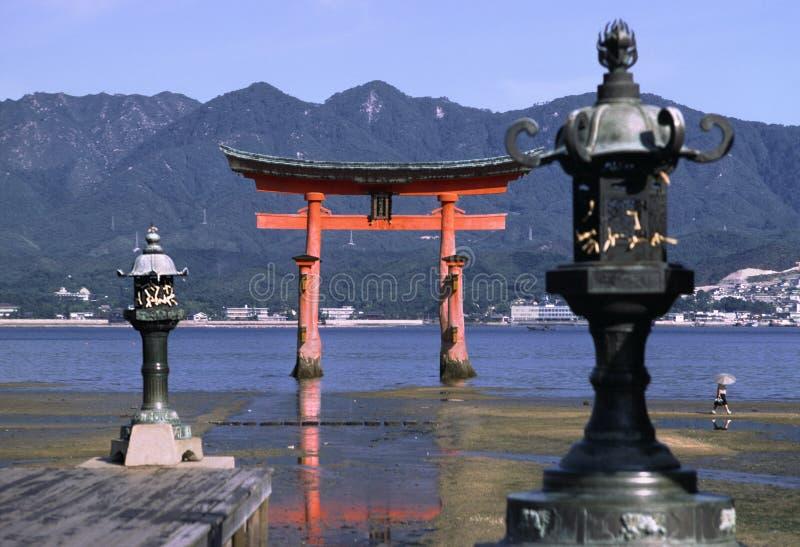 Miyajima temple royalty free stock photography
