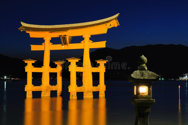 Miyajima Tori Gate Royalty Free Stock Photography