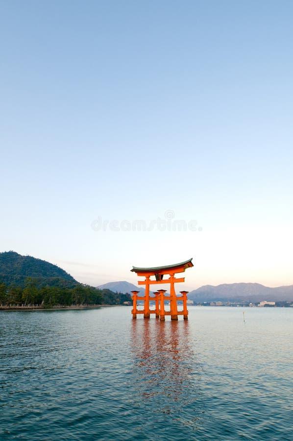 Miyajima Torii stock afbeeldingen